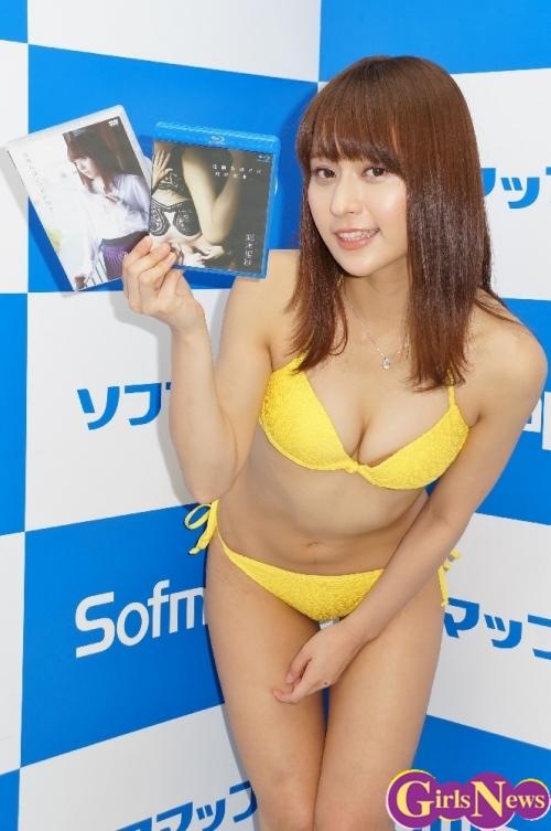 【グラビア】漁師の人に恋をして声をかけています…彩木里紗(24)が最新DVD&ブルーレイ「危険なほどに君が好き・・」をPR