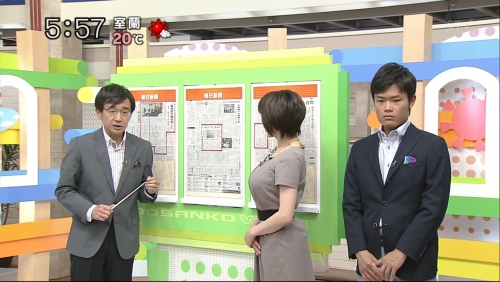 番組編成をも動かす超巨乳アナ! 北海道の最終兵器はスレンダーHカップ