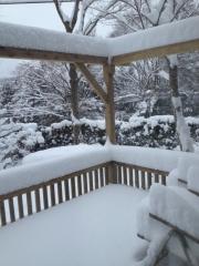 雪ベランダ