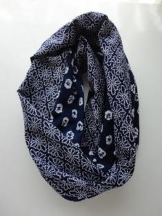 藍染浴衣パッチスヌード