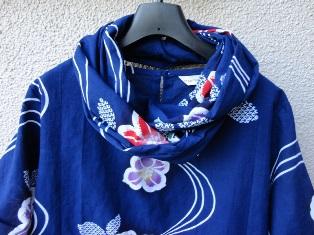 青色椿浴衣スヌード