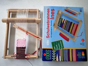 裂き織り おもちゃの織り機