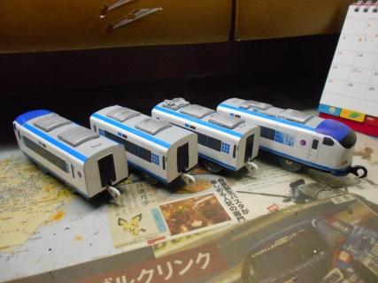改造プラレール281系 はるかお披露目!