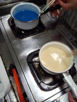 20140720廃油を使って ろうそく作り