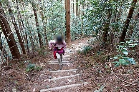延々と階段♪