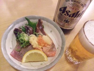 140331すし穴場タタキ3種盛り488円カツオマグロサーモン