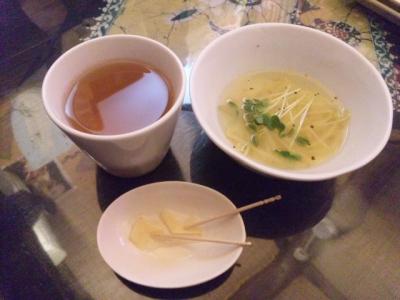 140420印度亜イラムスティー生姜スライス、もやしとかいわれスープ
