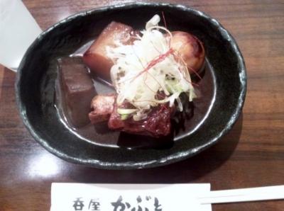 140623呑屋かぶと名古屋名物の味噌おでん五種盛り580円