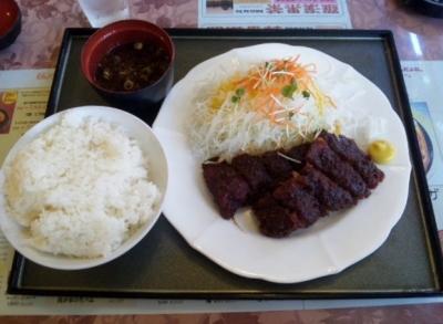 140624広小路キッチンマツヤ若鶏の味噌かつランチ880円