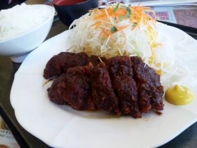 140624広小路キッチンマツヤ若鶏の味噌かつランチ880円チキンカツ