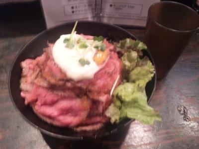 140728Red Rockローストビーフ丼750円