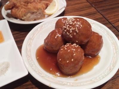 140821黒龍天神楼肉だんご甘酢