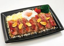 松田選手のスタミナステーキ丼