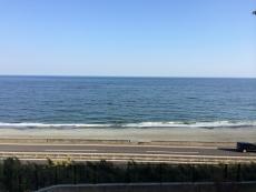 青いね。沖に船が白く点のように見える。 #海 #海photo
