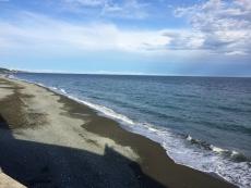 陸地の上に雲が浮かんでる。 #海 #海photo