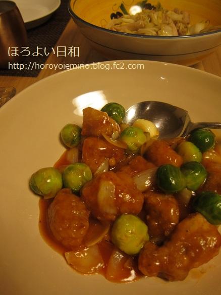0311芽キャベツ酢豚