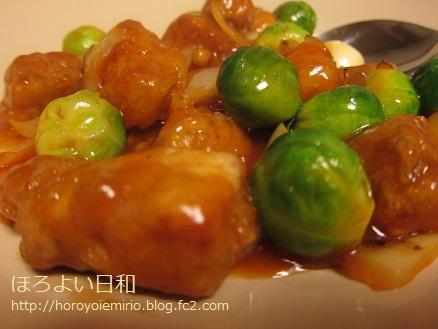 0311芽キャベツ酢豚2