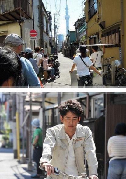 東京・山谷でドラマ『若者たち』の撮影!