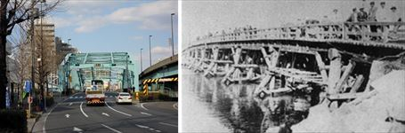 今昔の千住大橋画像