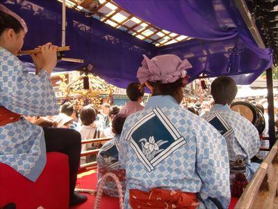 三社祭 お囃子屋台と町内神輿
