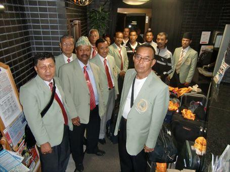 ネパールから来たシニアの陸上競技団