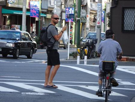 東京・下町、山谷に宿泊する外国人旅行者2014