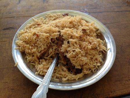 パキスタンのチキンビリヤニ