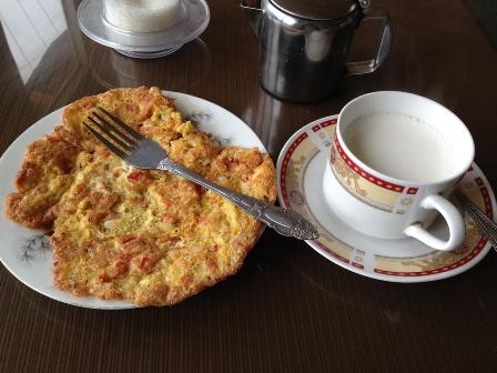 カリマバード2日目の朝食