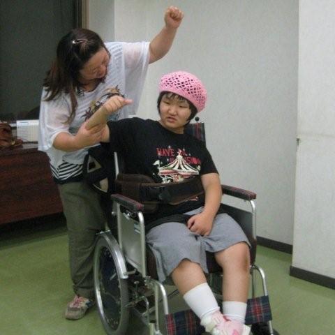 hsd9月12日ねね車椅子でオー