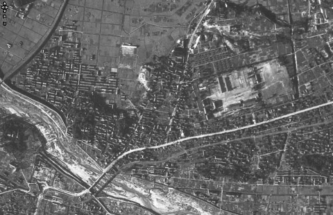鳥羽見小学校学区19471013米軍空中写真