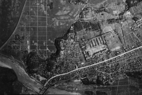 鳥羽見小学校学区戦前陸軍空中写真
