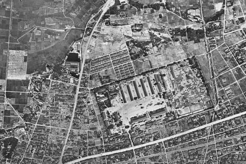 気球隊19460528米軍空中写真