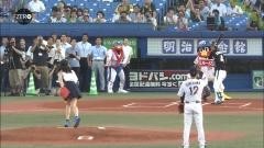 川口春奈始球式画像2