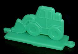 コリス フエラムネのおまけ ブルドーザースタンプ(緑)