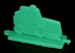 コリス フエラムネのおまけ 清掃車スタンプ(緑)