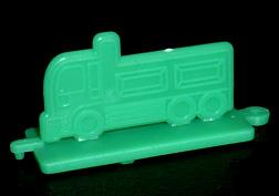 コリス フエラムネのおまけ トラックスタンプ(緑)