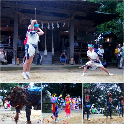 滝尻棒ささらと愛宕神社の松明祭り3