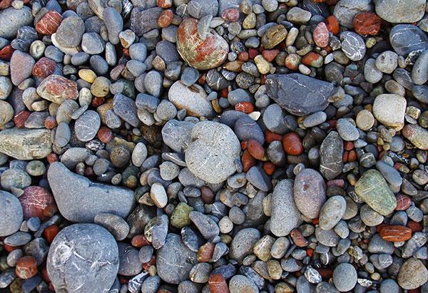 五色ノ浜の玉砂利