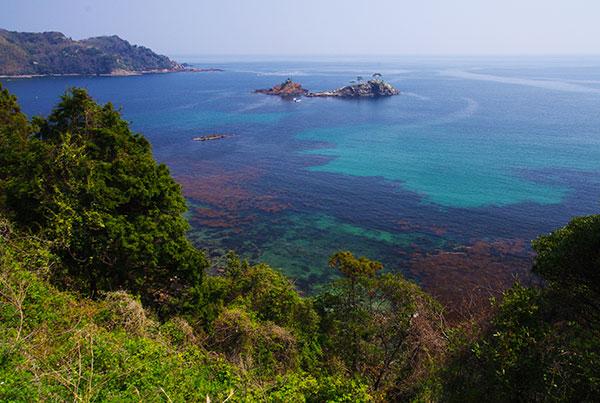 島根半島の海