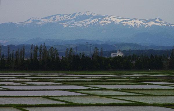 残雪の栗駒山