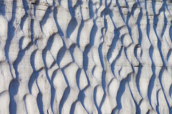 雪壁のスプーン・カット