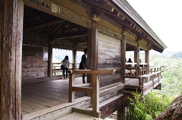 山寺の展望所