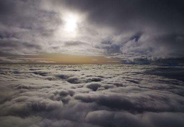 須川岳上空の雲海