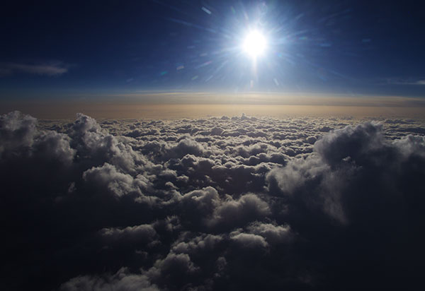 松本市上空の雲海