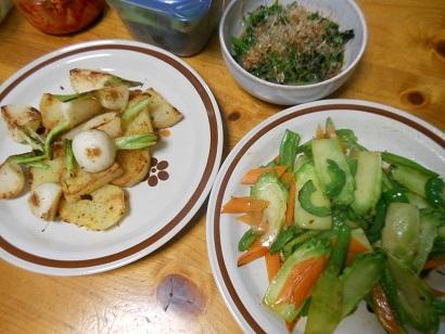 野菜バター炒め