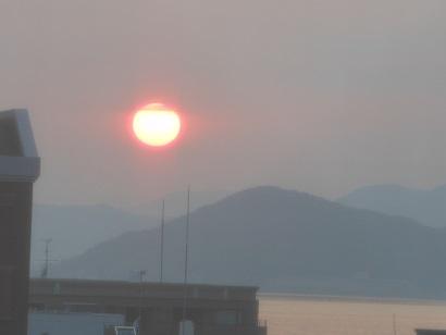 22日夕陽