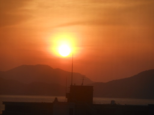 10日夕陽