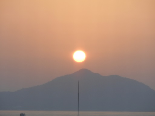 30日夕陽
