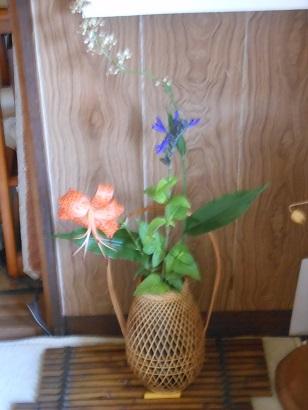 母の生け花