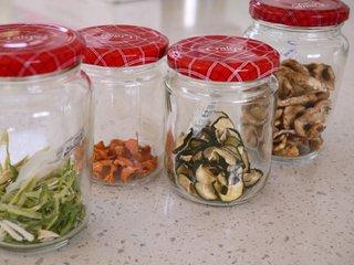 Dried vege in jar